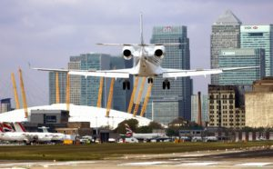 london-city-airport plane Canary car park and wash offer cheaper parking spaces