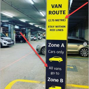 Height restrictions Canary Carpark and Wash LTD