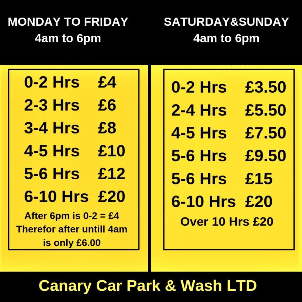 Canary Car Park and Car Wash-Secure Parking Canary Wharf